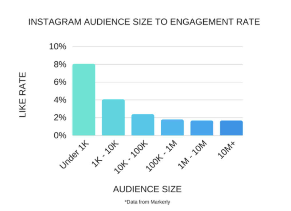 influencer audience sizes